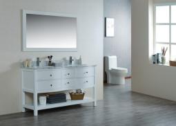 Ariel 60 Inch White Vanity