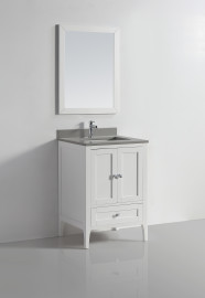 Vigo 24 White Ice Grey Quartz Vanity