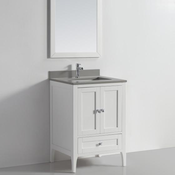 Vigo 24 White Ice Grey Quartz Vanity