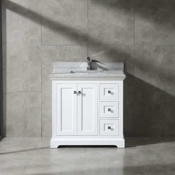 pearl bush 36 white with grey marble 8