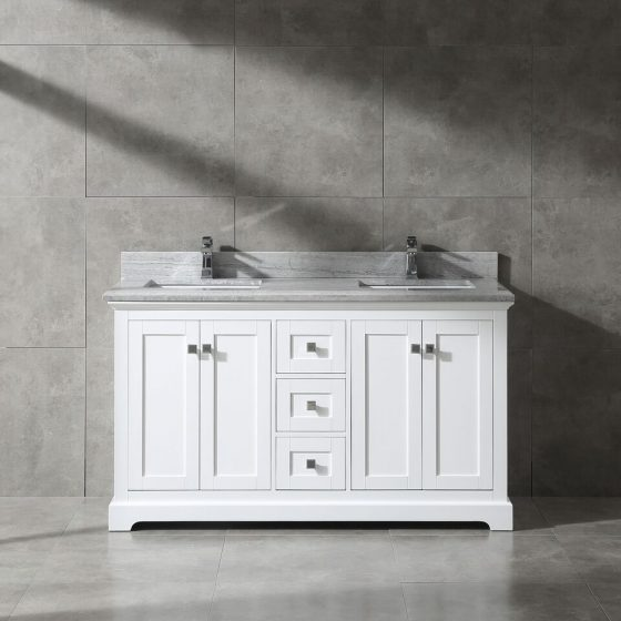 pearl bush 60 white with grey marble 1