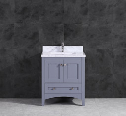 ARIES 30'' CHARCOAL WH CARRERA MARBLE 2