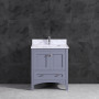 """ARIES 36"""" CHARCOAL WH CARRERA MARBLE 2"""