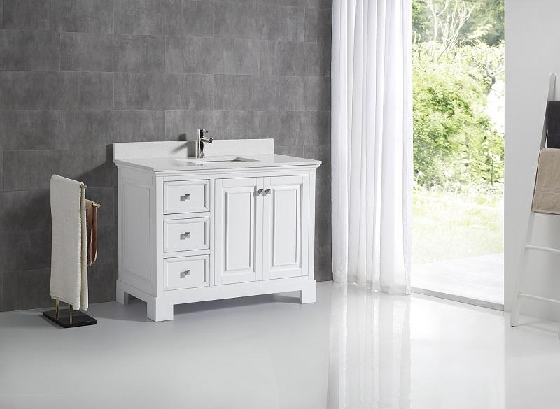 Dorado 45 Inch White Sparkle White Quartz Vanity De Ak Trading