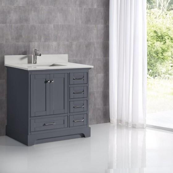 Lir 36 Charcoal Carrara Quartz