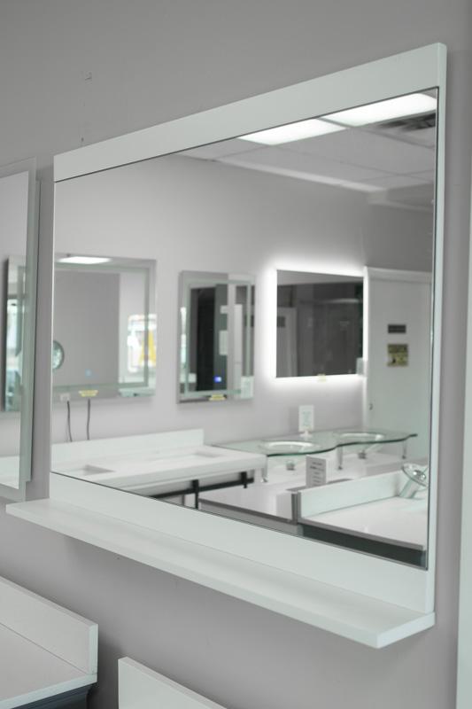 Mirror top bottom frame shlf